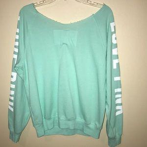 PINK Victoria's Secret Tops - Mint sweatshirt
